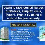 genital herpes on males